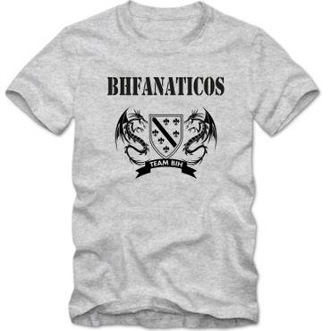Kinder unisex T-Shirt BHFANATICOS Bosna i Herzegovina BIH Zmajevi Fussball  – Bild 4