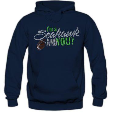Hoody Hoodie Kapuzenpulli Football USA Seahawk Bowl American Super Shirt DTG – Bild 4