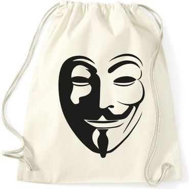Turnbeutel  Anonymous Vintage Maske Fun Spass  Gymnastikbeutel Bag  – Bild 1