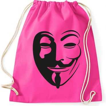 Turnbeutel  Anonymous Vintage Maske Fun Spass  Gymnastikbeutel Bag  – Bild 2