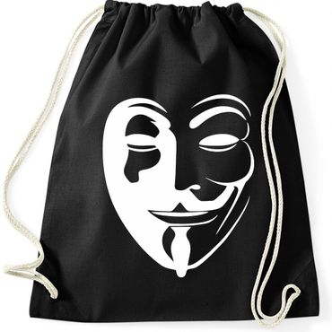 Turnbeutel  Anonymous Vintage Maske Fun Spass  Gymnastikbeutel Bag  – Bild 3