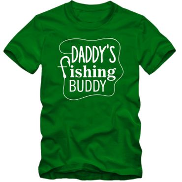 Kinder unisex T-Shirt DADDY'S FISHING BUDDY  Angeln Fischen  Köder  Fun Spass Tee   – Bild 4
