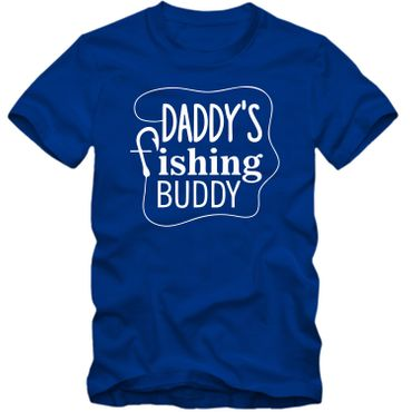 Kinder unisex T-Shirt DADDY'S FISHING BUDDY  Angeln Fischen  Köder  Fun Spass Tee   – Bild 1