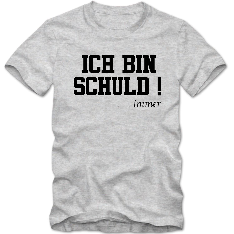Kinder Unisex T Shirt ICH BIN SCHULD ... Immer Sprüche Fun Spass Tee