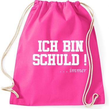 Turnbeutel ICH BIN SCHULD ... immer Sprüche Fun Spass Gymnastikbeutel Bag  – Bild 4