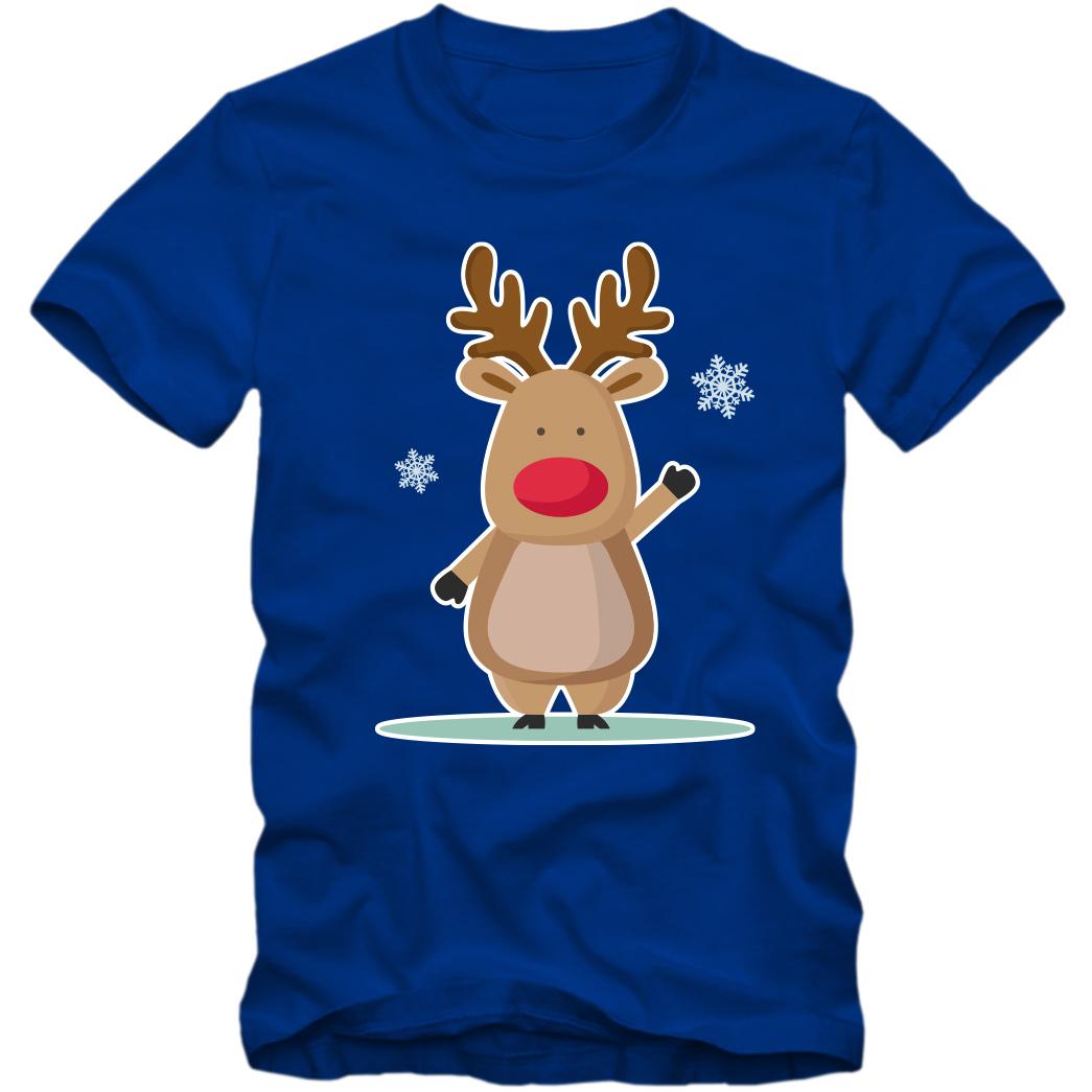 T Shirt Weihnachten.Kinder Unisex T Shirt Weihnachten Weihnachtsmann Rudolph Rentier