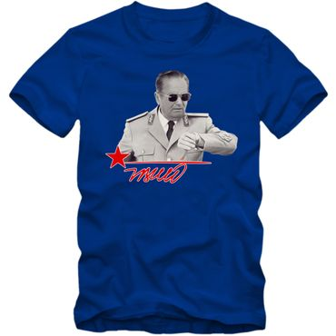 Herren T-Shirt Josip Broz Tito Jugoslavija Srbija Hrvatska Bosna Shirt DTG – Bild 3