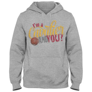 Hoody Hoodie Kapuzenpulli Basketball I'm a Cavalier King James USA Love Shirt DTG – Bild 3