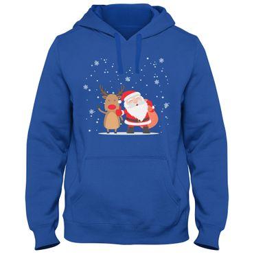 Hoody Hoodie Kapuzenpulli unisex Weihnachten Nikolaus Rudolph Rentier DTG 01 – Bild 1