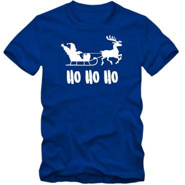 Herren T-Shirt  HO HO HO Weihnachten Nikolaus Rentier Fun Spass Tee S-4XL  – Bild 3