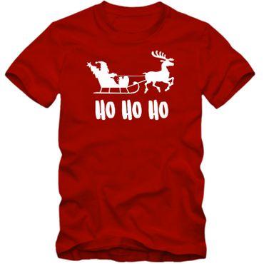 Herren T-Shirt  HO HO HO Weihnachten Nikolaus Rentier Fun Spass Tee S-4XL  – Bild 4
