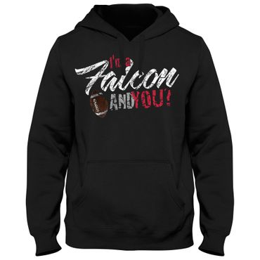 Hoody Hoodie Kapuzenpulli Football USA Falcon Bowl American Super Shirt DTG – Bild 3
