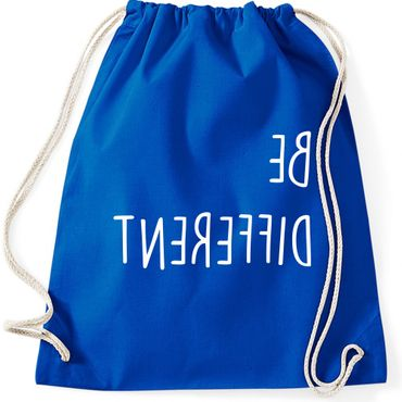 Turnbeutel BE DIFFERENT  Fun Spruch Spaß Sei du selbst individuell anders Gymnastikbeutel Bag  – Bild 6
