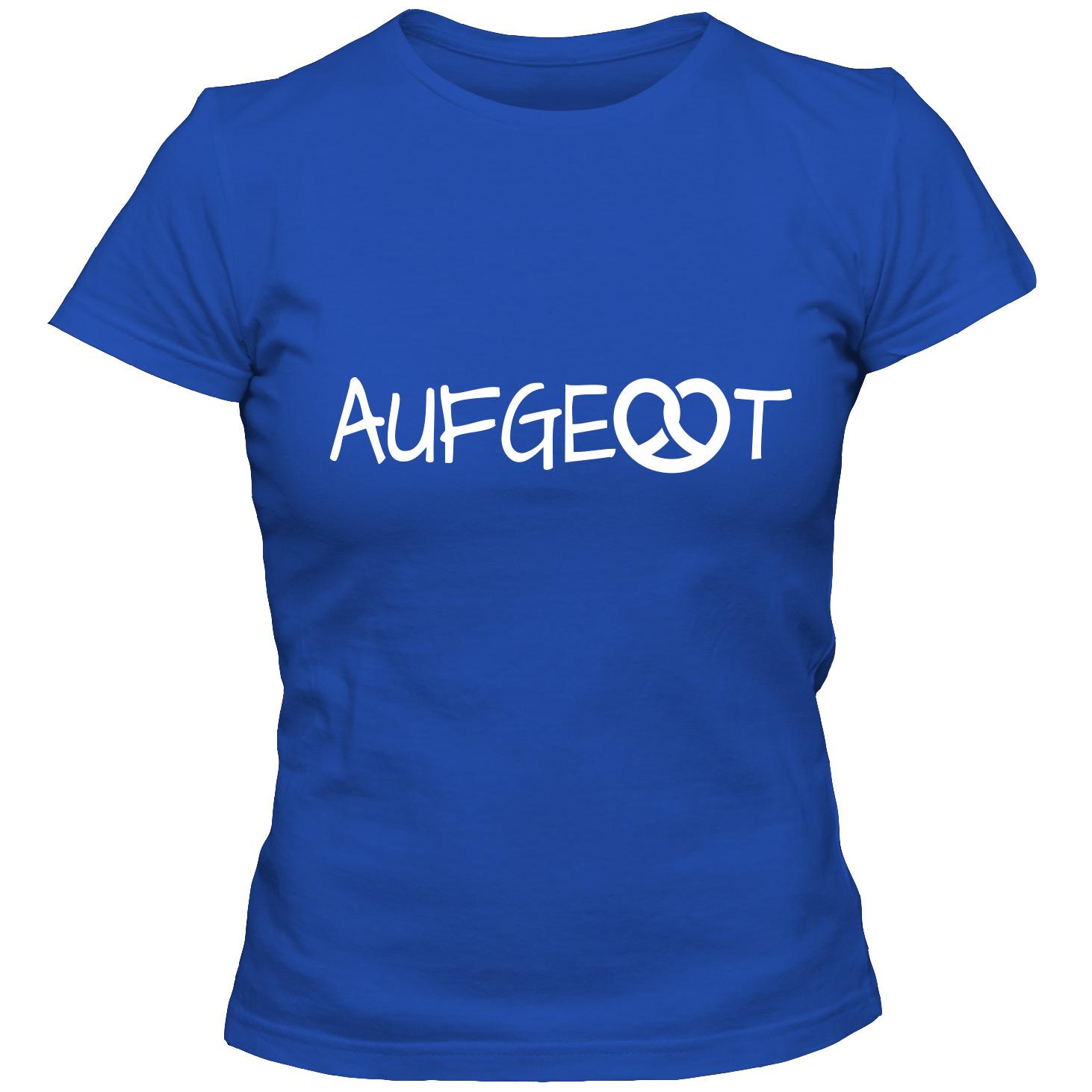 Damen T Shirt Aufgebrezelt Oktoberfest Dirndl Bayern Girlie Shirt S