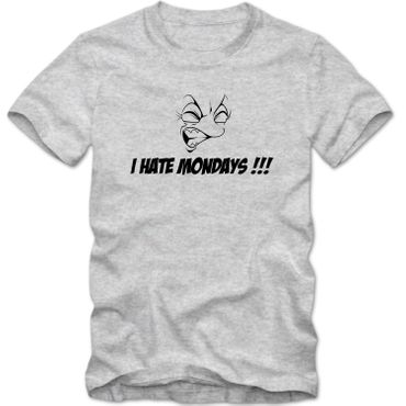 Herren T-Shirt I HATE MONDAYS !!! Fun Spass Tee XS-4XL  – Bild 1