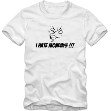 Herren T-Shirt I HATE MONDAYS !!! Fun Spass Tee XS-4XL  – Bild 3
