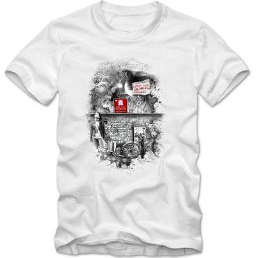 Herren T-Shirt  Lieber Gott Hamburg Elbe Hafen Moin Digga Shirt  DTG  – Bild 4
