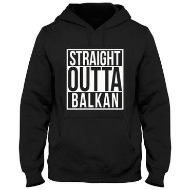 Hoody Hoodie Straight Outta Balkan – Bild 7