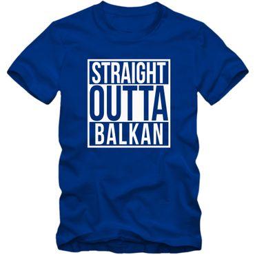 Herren T-Shirt Straight Outta Balkan Shirt Tee – Bild 3