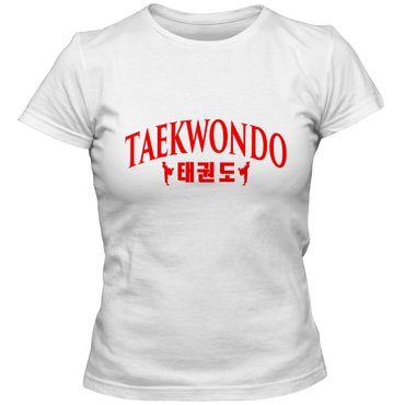 Damen T-Shirt Taekwondo Korea Mixed Kampfsport Martial Arts Shirt Tee – Bild 1