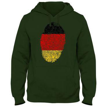 Hoody Hoodie Kapuzenpulli DEUTSCHLAND Germany Fußball Fingerabdruck WM EM – Bild 5