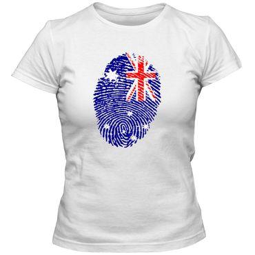 Damen T-Shirt AUSTRALIEN  Australia Fußball Trikot Fingerabdruck WM EM – Bild 1