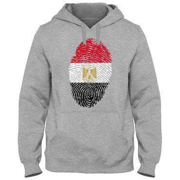 Hoody Hoodie Kapuzenpulli EGYPT Ägypten Fußball Fingerabdruck WM  – Bild 3