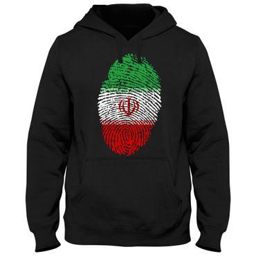 Hoody Hoodie Kapuzenpulli IRAN Fußball Fingerabdruck WM  – Bild 3