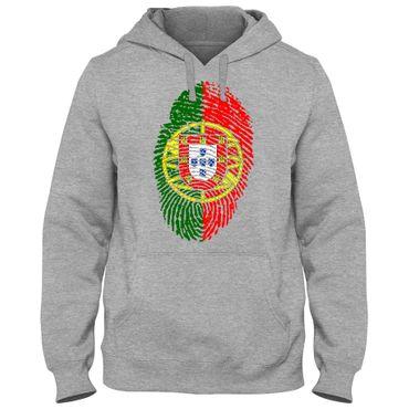 Hoody Hoodie Kapuzenpulli PORTUGAL Fußball Fingerabdruck WM EM – Bild 3