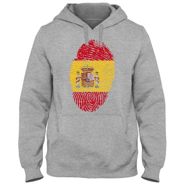 Hoody Hoodie Kapuzenpulli SPAIN Spanien España   Fußball Fingerabdruck WM EM – Bild 5
