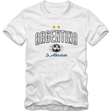 Kinder T-Shirt  Argentina  Argentinien  Fußball Soccer Football WM Trikot DTG – Bild 5