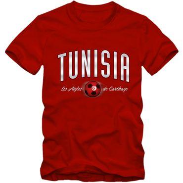 Kinder T-Shirt Tunisia Tunesien Fußball Soccer Football WM Trikot  DTG – Bild 7