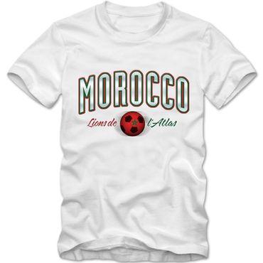 Kinder T-Shirt Morocco Marokko Fußball Soccer Football WM Trikot  DTG – Bild 3