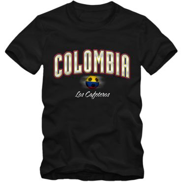 Kinder T-Shirt Colombia  Kolumbien Fußball Soccer Football WM Trikot  DTG – Bild 3