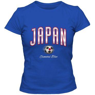 Damen T-Shirt Japan Fußball Soccer Football WM Trikot DTG – Bild 5