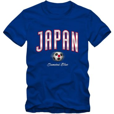 Kinder T-Shirt Japan Fußball Soccer Football WM Trikot DTG – Bild 5