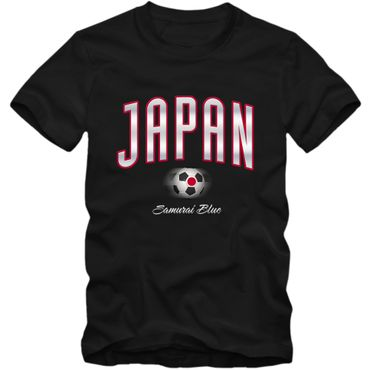 Kinder T-Shirt Japan Fußball Soccer Football WM Trikot DTG – Bild 3