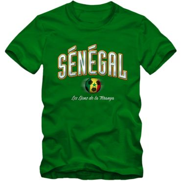 Kinder T-Shirt Senegal Fußball Soccer Football WM Trikot DTG – Bild 5