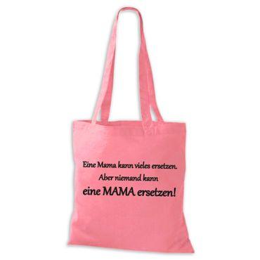 Jutebeutel Baumwolltasche -Niemand kann eine MAMA ersetzen! -Stoffbeutel Sprüche Fun Spaß  – Bild 5