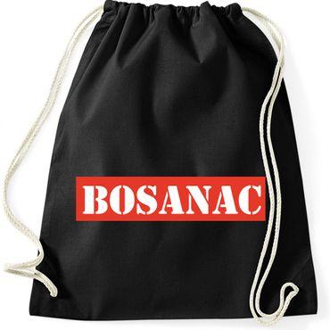 Turnbeutel -BOSANAC- Bosna Bosnien und Herzegowina Sprüche Fun Spaß Gymnastikbeutel Bag  – Bild 2