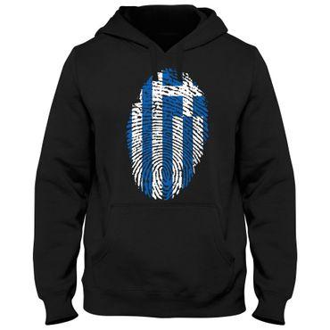 Hoody Hoodie Kapuzenpulli GREECE Griechenland Hellas Basketball  Fußball Fingerabdruck WM EM – Bild 1
