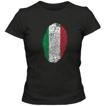 Damen T-Shirt  ITALY Italia  Italien  Squadra Azzurra  Fußball Trikot Fingerabdruck WM EM – Bild 4