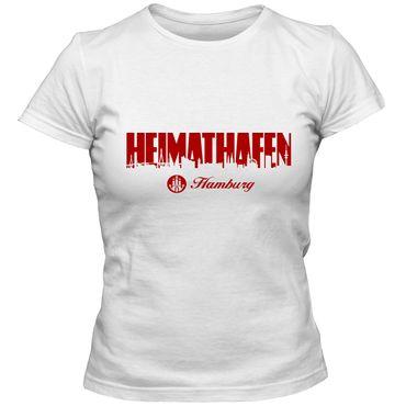 Damen T-Shirt Heimathafen 02 mit Elbphilharmonie Hamburg Shirt FAN St. Pauli Reeperbahn Hafen City Tee – Bild 3
