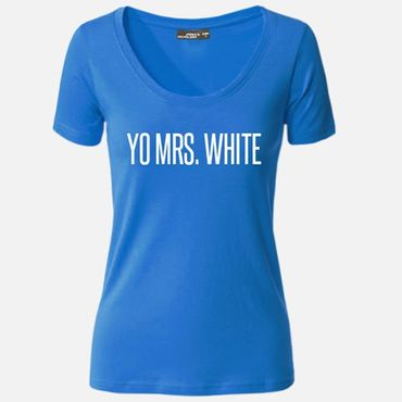 Damen T-Shirt Yo Mrs. Mr. White Shirt Breaking Tee Bad S-3XL NEU – Bild 2