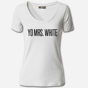 Damen T-Shirt Yo Mrs. Mr. White Shirt Breaking Tee Bad S-3XL NEU – Bild 6