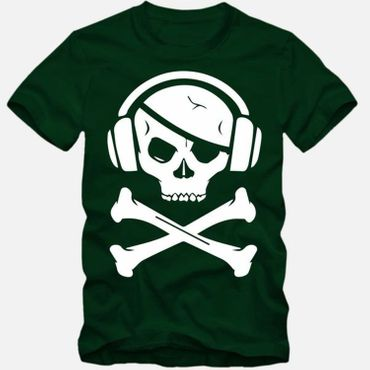 Herren T-Shirt Party Pirat Totenkopf Skelett Pirate Tee S-3XL NEU TOP QUALITÄT!