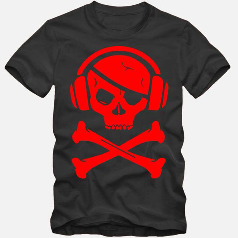 Pirate Trikot Rot Pirat Totenkopf Skull