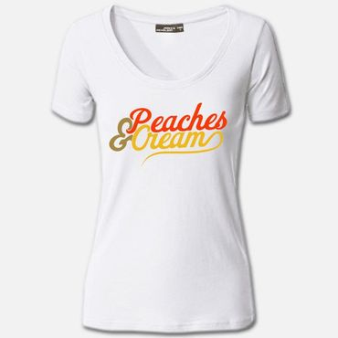 Damen Women T Shirt Peaches & Cream Shirt Sommer Summer Tee S-3XL NEU – Bild 1