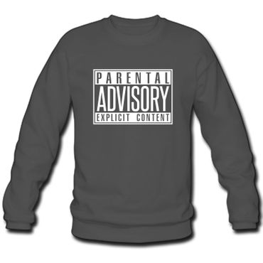 Herren Sweatshirt Sweater Parental Advisory Explicit Content Records Fun S-3XL – Bild 1