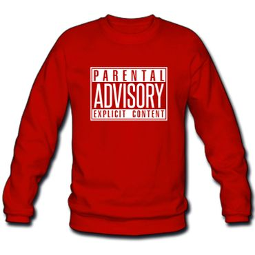 Herren Sweatshirt Sweater Parental Advisory Explicit Content Records Fun S-3XL – Bild 3